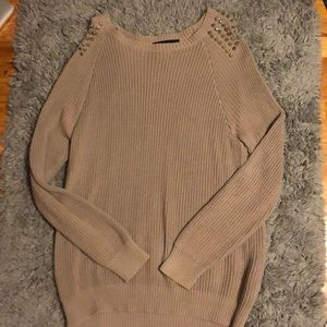 Forever 21 beige studded sweater